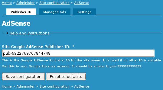 Adsense slot number